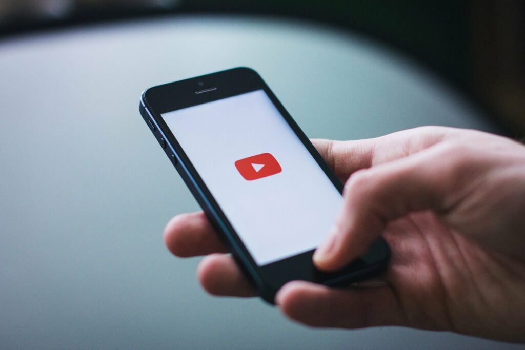 image youtube sur mobile